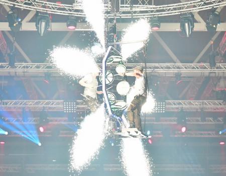 vliegende drummers