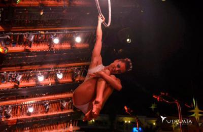acrobatische luchtvoorstelling voor bedrijfsfeesten