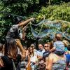 zeepbellen op stelten
